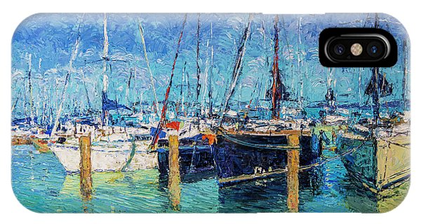 Sailboats At Balatonfured IPhone Case