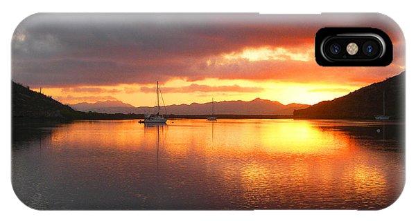 Sailboats At Sunrise In Puerto Escondido IPhone Case