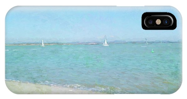 Sailboats At West Wittering IPhone Case