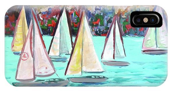 Sailboats In Spain I IPhone Case