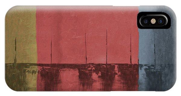 Sailboats Neutral Colors 3 IPhone Case