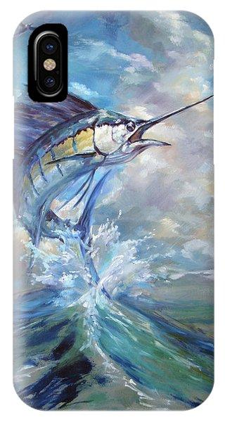 Swordfish iPhone Case - Sailfish And Frigate by Tom Dauria