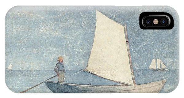 Boats iPhone Case - Sailing A Dory by Winslow Homer