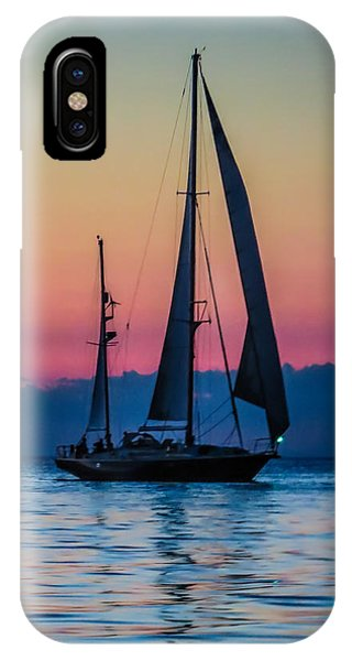 Sailing After Sunset IPhone Case