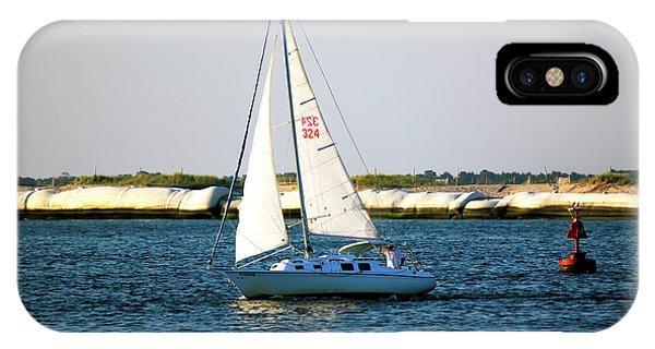 Sailing At Long Beach Island Phone Case by John Rizzuto