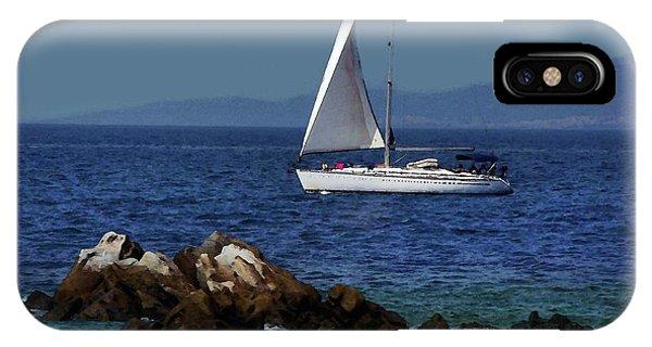 Sailing At Mykonos IPhone Case