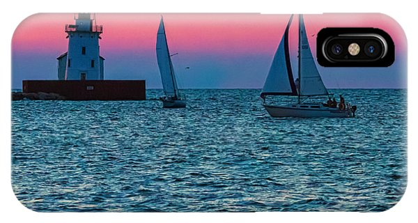Sailing At The Cleveland Lighthouse  IPhone Case