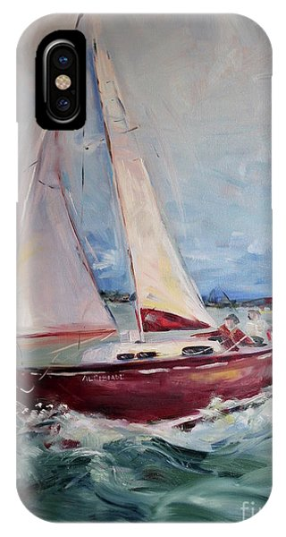 iPhone Case - Sailing Away by Maria Reichert