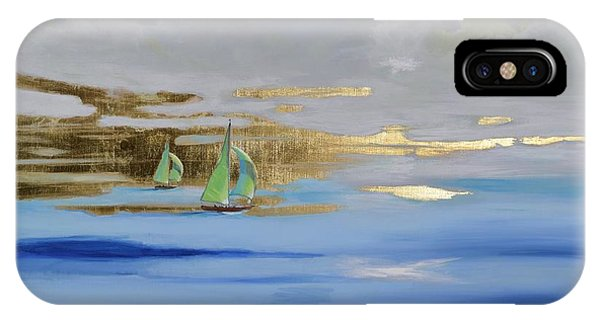 IPhone Case featuring the painting Sailing Away by Mary Scott