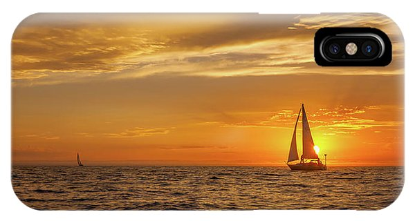 Sailing Away Two Phone Case by Steve Spiliotopoulos