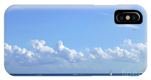 IPhone Case featuring the photograph Sailing Blue Seas by Francesca Mackenney