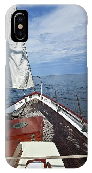 Sailing Bow View IPhone Case