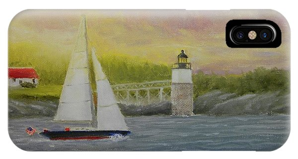 Sailing By Ram Island IPhone Case