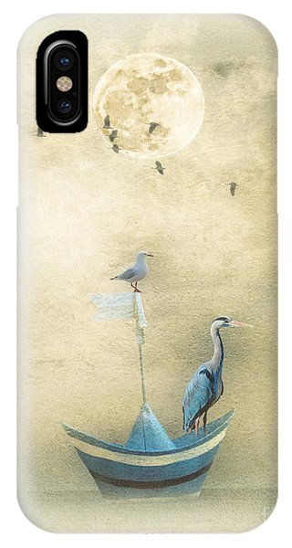 Sailing By The Moon IPhone Case