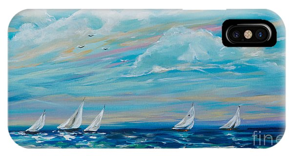Sailing Close To The Shore IPhone Case