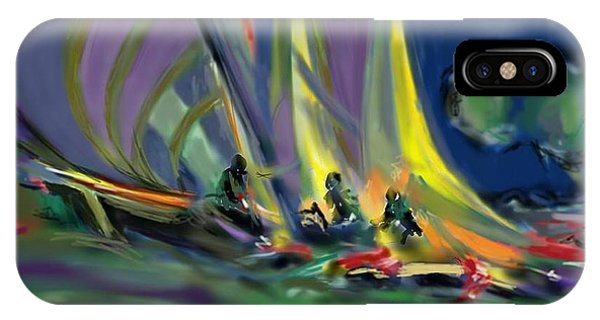 IPhone Case featuring the digital art Sailing by Darren Cannell