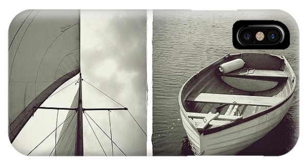 Sailing Diptych IPhone Case