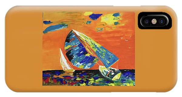 IPhone Case featuring the painting Sailing by Donald Paczynski