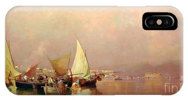 Sailing Fishermen Boats In Naples IPhone Case