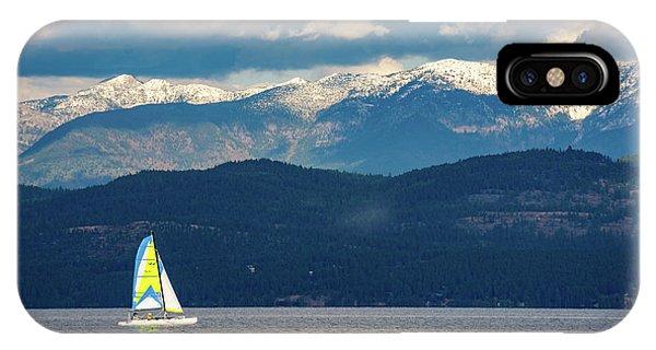 Sailing Flathead Lake IPhone Case