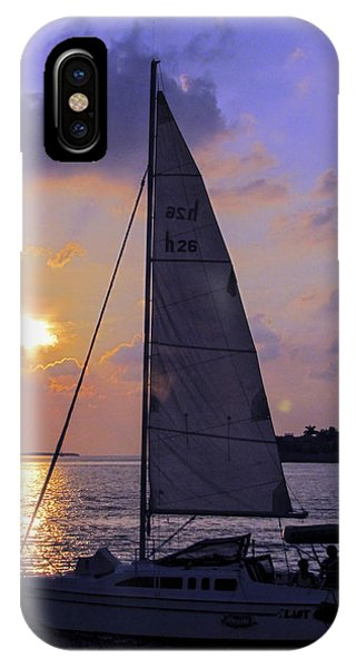 Sailing Home Sunset In Key West IPhone Case