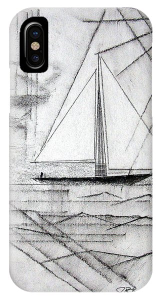 Sailing In The City Harbor IPhone Case