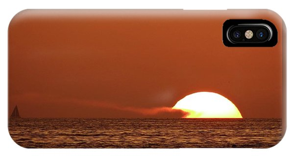 Sailing In The Sunset IPhone Case
