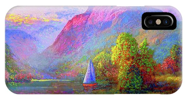 Sun iPhone Case -  Sailing Into A Quiet Haven by Jane Small