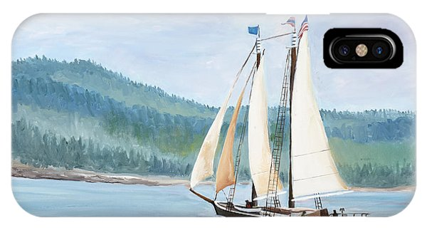 Sailing Into Castine Harbor IPhone Case