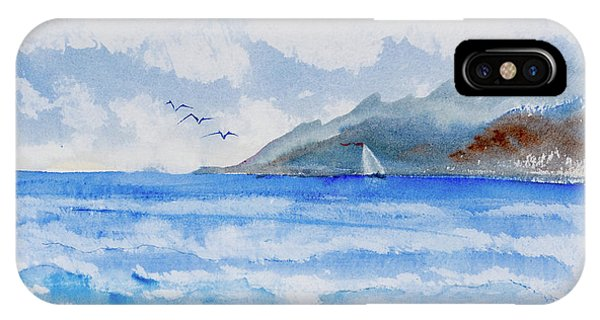 Sailing Into Moorea IPhone Case