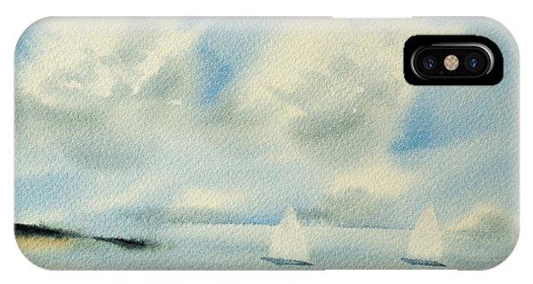 Sailing Into A Calm Anchorage IPhone Case