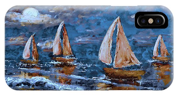 Sailing Into The Blue Moon 2 IPhone Case