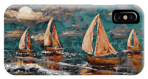 Sailing Into The Blue Moon IPhone Case