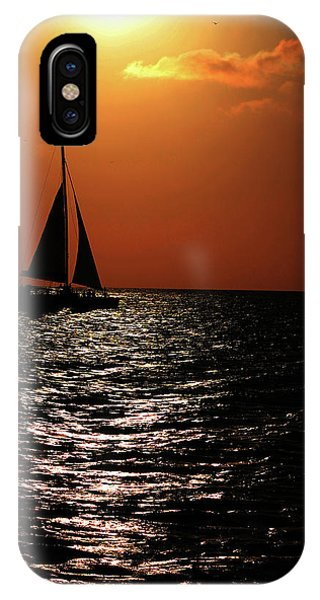 Sailing Into The Sunset IPhone Case