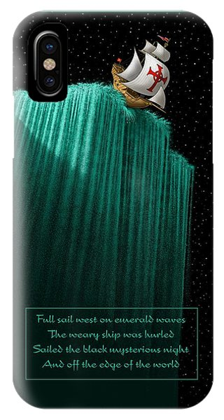 Sailing Off The Edge Of The World IPhone Case