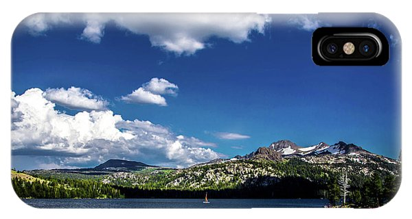 Sailing On Caples Lake IPhone Case