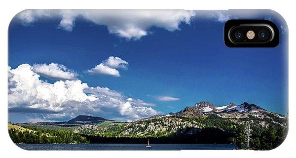 Sailing On Caples Lake IPhone Case
