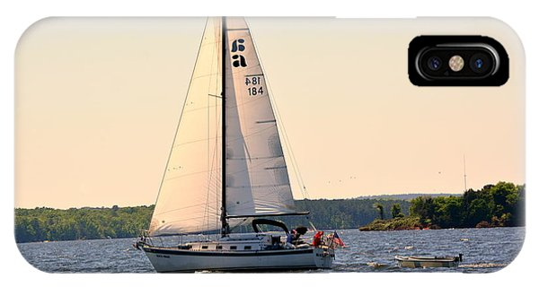 Sailing On Lake Murray Sc IPhone Case