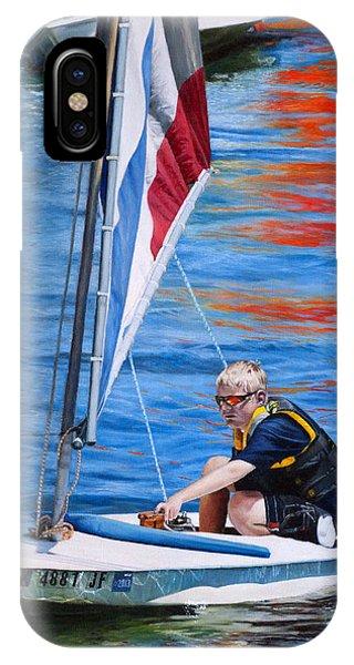 Sailing On Lake Thunderbird IPhone Case