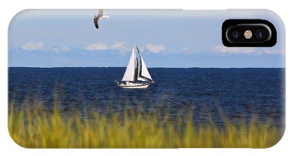 Sailing On Long Beach Island IPhone Case