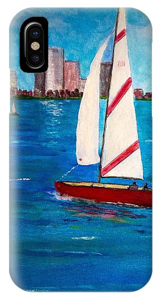 Sailing On The Charles IPhone Case