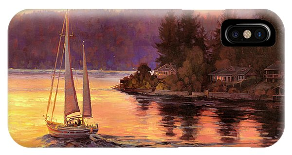 Sailboat iPhone Case - Sailing On The Sound by Steve Henderson