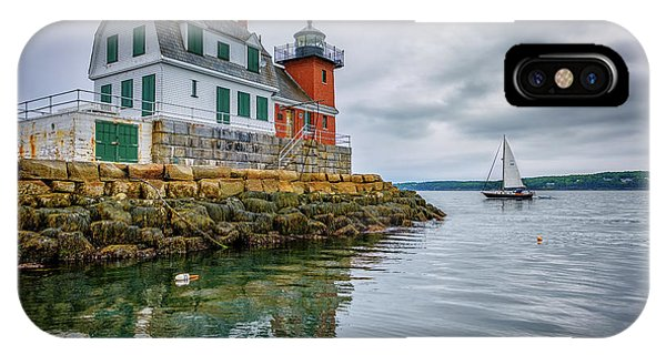 Navigation iPhone Case - Sailing Past The Breakwater by Rick Berk