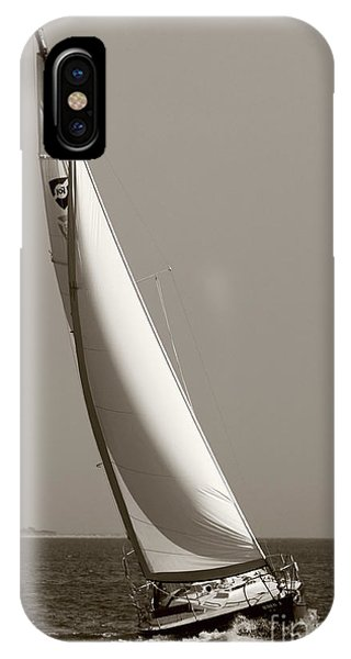 Sailing Sailboat Sloop Beating To Windward IPhone Case