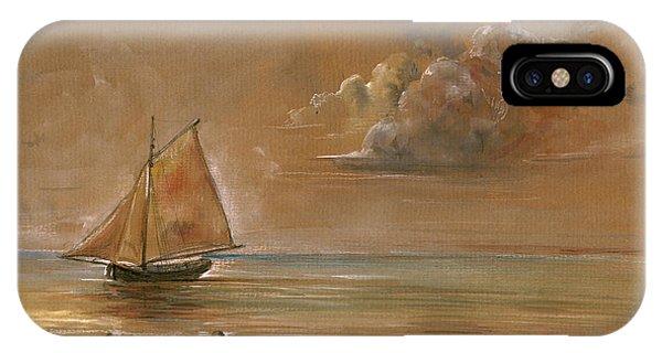 Nautical iPhone Case - Sailing Ship At Sunset by Juan  Bosco