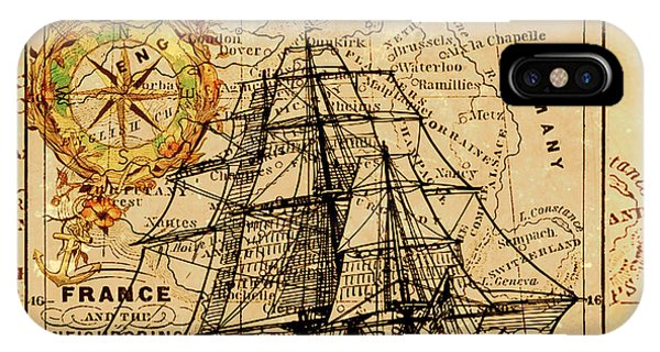 Sailing Ship Map IPhone Case
