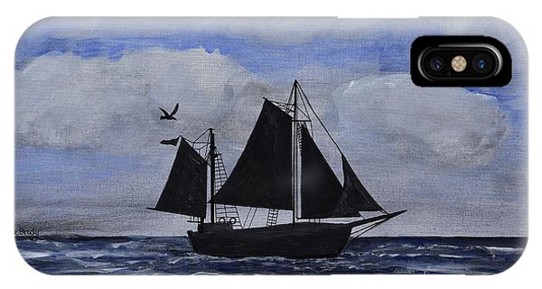 Sailing Ship Silhouette IPhone Case