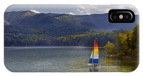 Sailing The Mountain Lakes IPhone Case