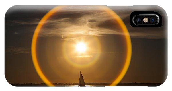 Sailing Through The Iris IPhone Case