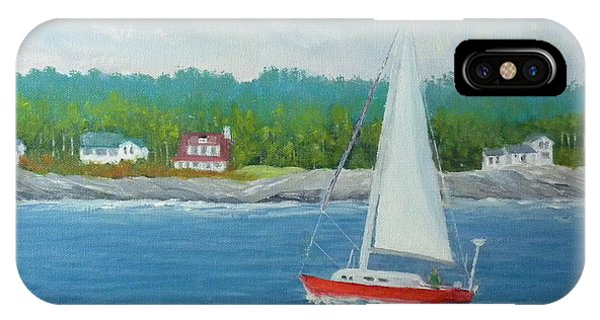 Sailing To New Harbor IPhone Case